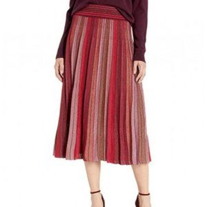 Kate Spade Metallic Stripe Knit Skirt